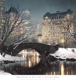 Schemering in Central Park Print van Rod Chase