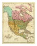 Map of North America Including All the Recent Geographical Discoveries, c.1826 Posters by Anthony Finley