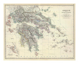 Greece, c.1861 Prints by Alexander Keith Johnston
