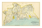 Connecticut: New Haven County South, c.1893 Prints