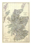 Composite: Scotland, c.1861 Plakat af Alexander Keith Johnston