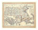 Massachusetts, Rhode Island, c.1846 Print by Henry S. Tanner