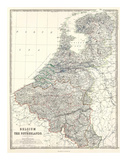 Belgium, Netherlands, c.1861 Plakater af Alexander Keith Johnston