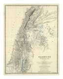 Palestine, c.1861 Affiches par Alexander Keith Johnston