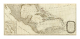 New Map of North America, with the West India Islands (Southern section), c.1786 Posters by Thomas Pownall