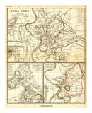 Roma urbs ab Augusti Imp. Tempore cum Muris ab Aureliano et Honorio Conditis Prints