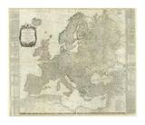 Composite: Europe, c.1787 Posters by Thomas Kitchin
