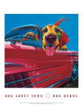Dog About Town Poster by Ron Burns