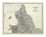 England, North Wales, c.1861 Poster by Alexander Keith Johnston