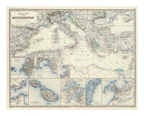 Mediterranean Basin, c.1861 Prints by Alexander Keith Johnston