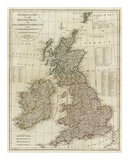 A Complete Map of the British Isles, c.1788 Posters by Thomas Kitchin