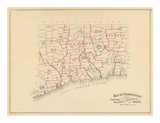 Connecticut: Senatorial districts, c.1893 Prints