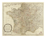 New Map of the Kingdom of France, c.1790 Posters by Thomas Kitchin