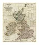A Complete Map of the British Isles, c.1788 Poster by Thomas Kitchin