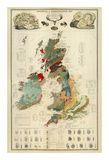 Composite: Geological and Palaeontological Map of the British Islands, c.1854 Prints by Alexander Keith Johnston