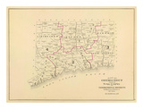 Connecticut: Congressional Districts, c.1893 Prints