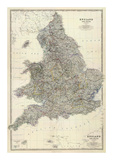 Composite: England, Wales, c.1861 Print by Alexander Keith Johnston