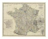 France, c.1861 Affiches par Alexander Keith Johnston