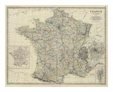 France, c.1861 Prints by Alexander Keith Johnston