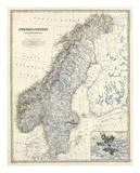 Alexander Keith Johnston - Sweden, Norway, c.1861 - Reprodüksiyon