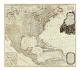 Composite: North America, West India Islands, c.1786 Prints by Thomas Pownall