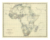 Africa, c.1861 Prints by Alexander Keith Johnston
