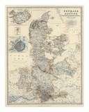 Denmark, Hanover, Brunswick, Mecklenburg, Oldenburg, c.1861 Prints by Alexander Keith Johnston