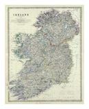 Ireland, c.1861 Plakater af Alexander Keith Johnston