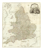 Composite: England, Wales, c.1790 Posters by John Rocque