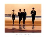 Vier mannen aan het strand: The Billy Boys Schilderij van Vettriano, Jack