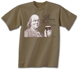 Ben Franklin Beer Tee Shirts