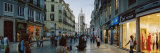 Group of People Walking on a Street, Larios Street, Malaga, Malaga Province, Andalusia, Spain Photographic Print by  Panoramic Images