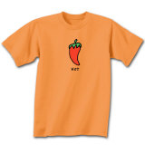 Hot on Orange Shirt