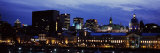 Buildings in a City Lit Up at Night, Bonsecours Market, City Hall, Montreal, Quebec, Canada Photographic Print by  Panoramic Images