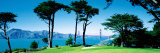 Golf Course W\ Golden Gate Bridge San Francisco Ca, USA Photographic Print by  Panoramic Images