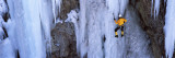 Rear View of a Person Ice Climbing, Colorado, USA Photographic Print by  Panoramic Images
