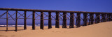 Footbridge on the Beach, Pudding Creek Bridge, Fort Bragg, Mendocino, Mendocino County Photographic Print by  Panoramic Images