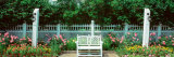 Michigan, Mackinac Island, Grand Hotel, Empty Bench in the Garden Photographic Print by  Panoramic Images