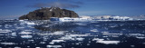 Icebergs Floating on Water, Antarctica Photographic Print by  Panoramic Images