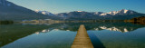 Pier over on a Lake, Wolfgangsee, St. Wolfgang, Salzkammergut, Upper Austria, Austria Photographic Print by  Panoramic Images