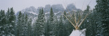 Snow Covered Teepee Banff National Park Canada Photographic Print by  Panoramic Images