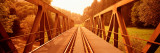 Railroad Tracks and Bridge Germany Photographic Print by  Panoramic Images