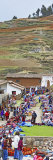 Group of People in a Market, Chinchero Market, Andes Mountains, Urubamba Valley, Cuzco, Peru Fotografie-Druck von  Panoramic Images