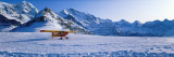 Ski Plane Mannlichen Switzerland Fotografisk trykk av Panoramic Images,