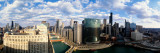 Chicago River Curve Chicago, IL Photographie par  Panoramic Images
