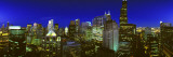 Evening Chicago Illinois Photographic Print by  Panoramic Images