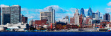 Panoramic View of a City at the Waterfront, Delaware River, Philadelphia, Pennsylvania, USA Photographic Print by  Panoramic Images