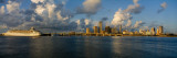 Cruise Ship Docked at a Harbor, Miami, Florida, USA Photographic Print by  Panoramic Images