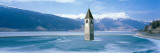 Lago Di Resia Church Tyrol Italy Photographic Print by  Panoramic Images