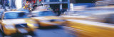 Yellow Taxis on the Road, Times Square, Manhattan, New York City, New York State, USA Photographic Print by  Panoramic Images